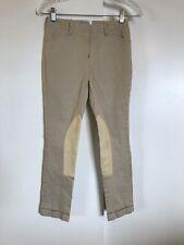 Kaki Katheryn Hall Girls Tan Jodphurs Knee Patch 25x24 Breeches Riding Pants