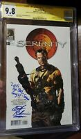 "Serenity #1 CGC SS 9.8 Signed By Adam Baldwin ""Let's Be Bad Guys"" insc.- Firefly"