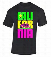 Cali For Nia Bear T-SHIRT California Republic Retro State Colorful Gift Shirt
