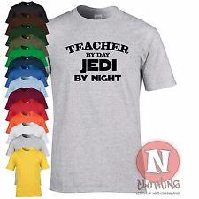 Teacher by day Jedi by night leaving birthday retirement fun Star Wars t-shirt