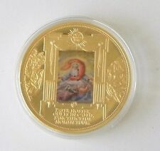 """The Lord's Prayer""  24k Gold Plated Limited Edition Proof Commemorative Coin"