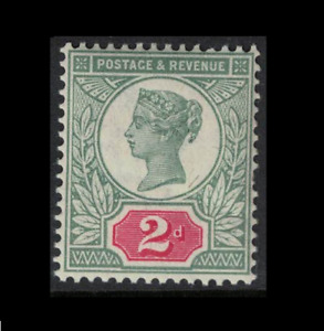 Gb stamps - 2d green and carmine Mint NH fresh - sg200 - jubilee issue 1887