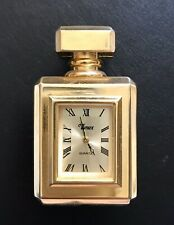 Vintage TIMEX TMX209 Polished Gold Collectible Miniature Clock