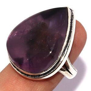 AMETHYST LACE 925 SILVER PLATED RING US 8, AB6825