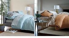 The Company Store Comforter Cover solid Weekender 100% Cotton Spice OR  Blue