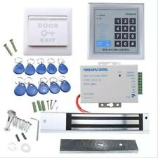 125KHz RFID Keypad Glass/Wood Door Access Control 390lB Magnetic Lock Kit Keyfob