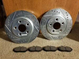 2 New Front Brake Rotor and Pads Jaguar,Ford,Lincoln,2000-06,AR8162XL / AR8162XR