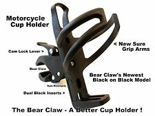 New Bear Claw Black Motorcycle Water Bottle Cup Holder Handlebar Grab Rail Clamp