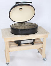 Primo Grill,XL Oval Ceramic Grill with Cypress Table with FREE MAN LAW 5 PC SET