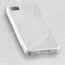 Rubber Silikon TPU Cover Handy Case Weiß für BlackBerry Z10 + Displayschutzfolie
