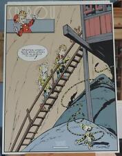 Franquin serigraphie Spirou gueule du loup 1500 ex Archives 1986
