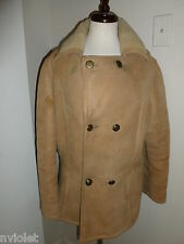 JADE MADE FRANCE 100% GENUINE LEATHER SHEARING JACKET COAT SZ MEDIUM