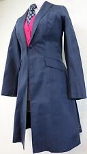 Reed Hill Saddleseat Day Coat Navy Blue Dupioni Silk size 6- MADE IN USA