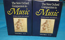 The New Oxford Companion to MUSIC Edited by Denis Arnold Volume 1 & 2