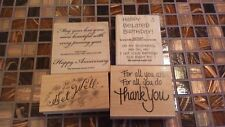 Set Of 4 Stamps With Sentiments
