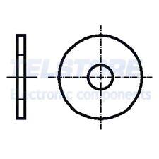 100pcs  Rondella rotonda M3 D=9mm h=0,8mm acciaio inox A2 DIN 9021 BOSSARD