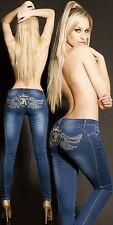 Koucla Skinny Jeans Damen Jeans mit Stickerei und Strass