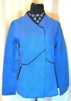 NWOT Icelandic Design S 100% Wool Cornflower Blue Tailored Cardigan Sweater