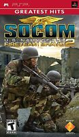 SOCOM U.S NAVY SEALS (FireTeam Bravo 2) - GREATEST HITS (Sony PSP) - NEW ™