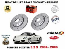 FOR PORSCHE BOXSTER 3.2 2004-2006 FRONT DRILLED BRAKE DISCS + PADS KIT