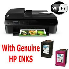 HP Officejet 4630 E-Impresora inalámbrica todo en uno Escáner Copiadora Fax + tintas Usado