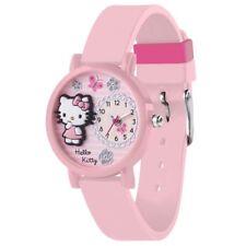 Reloj De Pulsera nuevo Reloj De Hello Kitty Rosa Super Lindo hora oficial Correa de caucho