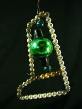 Antique Beaded Stocking w Glass Ball Ornament - Japan - Gorgeous