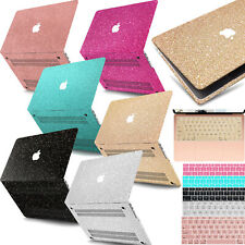 Bling Laptop Cut Out Hard Glitter Case+KB Cover For Macbook Pro Air Retina/Touch
