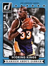 Kareem Abdul-Jabbar #15 Donruss Scoring Kings 2014/15 NBA Basketball Card