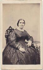 1860s ANTIQUE CDV PHOTO CIVIL WAR TAX REVENUE STAMP Amanda Taylor Lockport NY 41