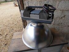 Lampe Industrielle MAZDA 1970 Suspension Métal Aluminium Atelier Usine