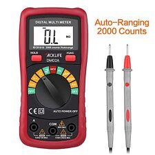 Tacklife DM02A Classic Pocket Digital Multimeter Auto Ranging Voltage Tester ...