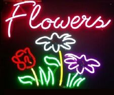 "New Flowers Shop Neon Light Sign 24""x20"" Lamp Poster Real Glass Beer Bar"