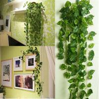 US Artificial Leaf Rattan Ivy Vine Garland Plants Fake Foliage Flower Home Decor