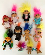 "Lot of 11 Vintage Russ Trolls Figures - Eight 5"" & 3 miniatures"