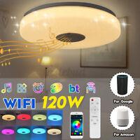 33cm bluetooth WIFI LED Ceiling Light RGB Music Speeker Dimmable Lamp + Remot