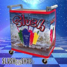Rollwagen für Slush Eis Geräte Slusheis Maschine Wagen 4 Rollen inkl. Banner