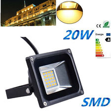 220V SMD 20W Warm White LED Flood Light Outdoor Landscape Garden Spot Lamp IP65