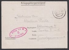 GERMANY, 1942. POW Letter Sheet, Oflag VII A, Warsaw