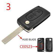 HU83 CE0523 Remote Key Replacement Fob Shell Case For Peugeot 308 207 307 3008