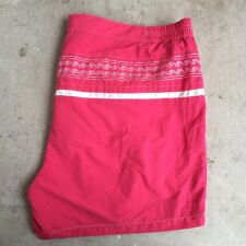 J. McLaughlin Mens Pink Wave Swim Shorts Size XL Trunks Embroidered Malibu