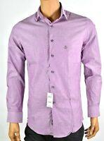 Bar lll Mens Dark Pink shirt New M 15-15.5 34/35 Slim Fit Stretch Long Sleeves