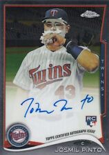 2014 TOPPS CHROME BASEBALL JOSMIL PINTO ON CARD AUTO RC #24