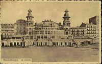 Blankenberghe Belgien s/w Postkarte ~1920 Partie am Casino Strand Postcard Belge