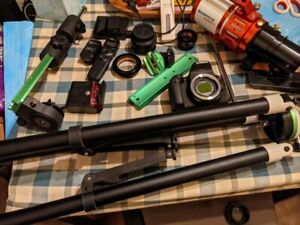 Complete Astrophotography Starter Setup Lot Canon Camera Mount SkyWatcher + More