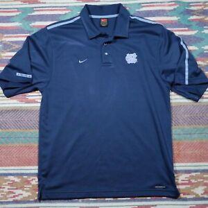Team Nike Carolina Tar Heels Shirt Adult Medium Blue Embroidered Polo NCAA Mens