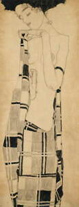 Egon Schiele Standing Girl Giclee Art Paper Print Paintings Poster Reproduction