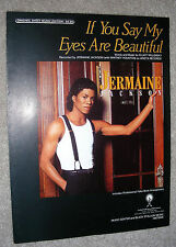 1986 IF YOU SAY MY EYES ARE BEAUTIFUL Sheet Music JERMAINE JACKSON by Willensky