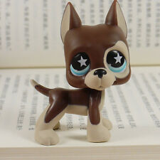 Littlest pet shop Great Dane dog Blue star eyes  LPS mini Action Figures #