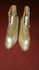 Vince Camuto Hammerton Ankle Boots Booties Gold Metallic Leather Women's 7.5 M